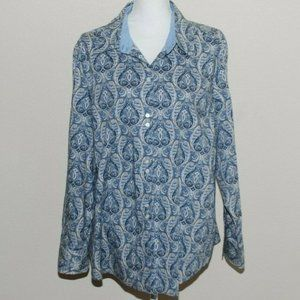 TOMMY HILFIGER Woman Blouse 22 Button Down Blue Co